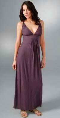T-Bags Braided Straps Long Dress