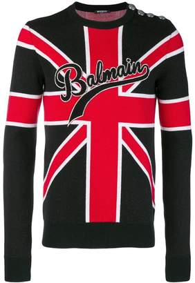 Balmain Union Jack knit sweater