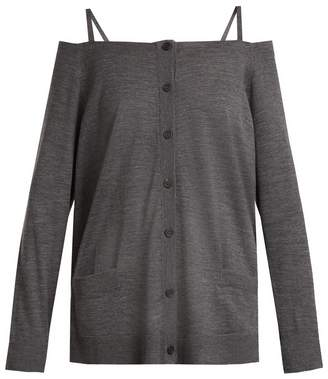 Prada Off-the-shoulder wool cardigan