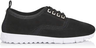 Jimmy Choo JENSON Black Mesh and Suede Trainers
