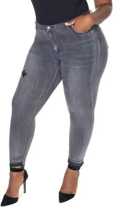 Anthony Logistics For Men LALA DENIM La La Motown Midrise Ripped Release Hem Skinny Jeans