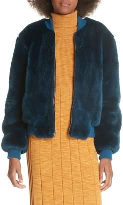 Elizabeth and James Ellington Faux Fur Bomber Jacket