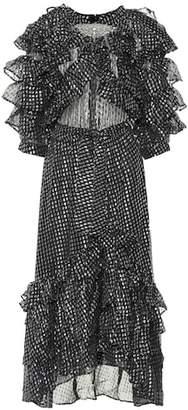Dodo Bar Or Metallic silk-blend dress