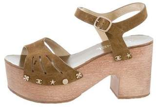 Chanel Lucky Charms Platform Sandals