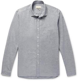 Oliver Spencer Clerkenwell Slim-Fit Striped Brushed-Cotton Shirt