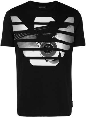 Emporio Armani logo printed short sleeved T-shirt