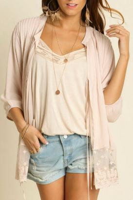 Umgee USA Cropped Lace Cardigan $46 thestylecure.com