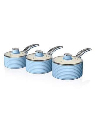 Swan Retro Ceramic Saucepans Set of 3