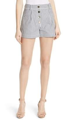 Derek Lam 10 Crosby Stripe Stretch Cotton Shorts