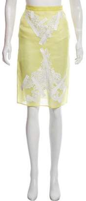 Christopher Kane Embroidered Silk Skirt
