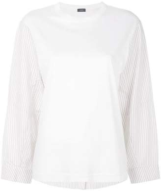 Joseph striped detail long-sleeved T-shirt