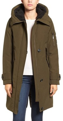 Women's French Connection Hooded Parka $158 thestylecure.com