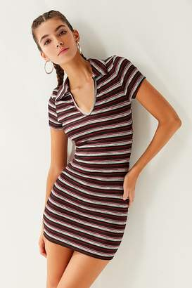 Urban Outfitters Striped Collar Tee Dress