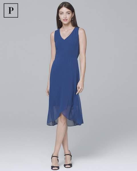 Whbm Petite Sleeveless High-Low Soft Dress