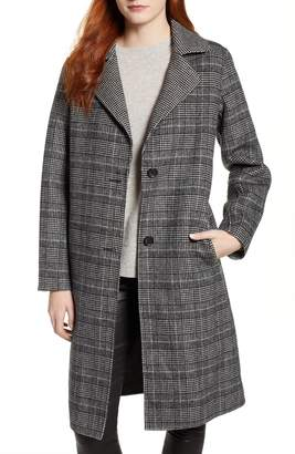 Bernardo Long Plaid Coat
