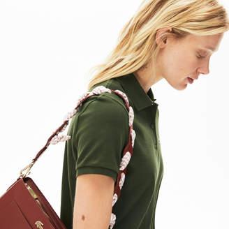 2ba3c886fa5 Lacoste Women's Braided Leather Shoulder Strap