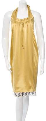Matthew Williamson Silk Halter Dress