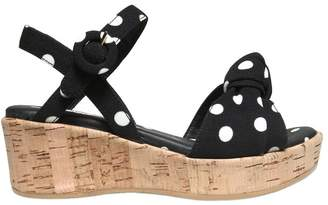Dolce & Gabbana Dots Printed Crepe Cady Wedges