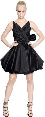 DSQUARED2 Silk Taffeta Dress With Bow
