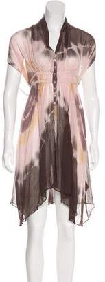 AllSaints Sheer Silk Dress