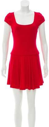 Alice + Olivia Lace Paneled Wool Dress