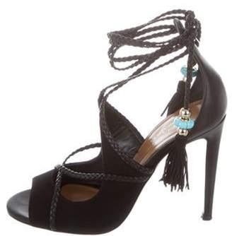 Aquazzura Colette 75 Leather Sandals Black Colette 75 Leather Sandals