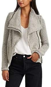 IRO Women's Bessie Bouclé Tweed Moto Jacket - Beige/Tan Size 38