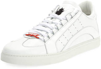 DSQUARED2 Men's Stripe Leather Low-Top Sneakers