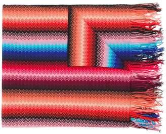 Missoni fringed zigzag stripe scarf