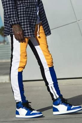 boohoo Skinny Fit MAN Colour Block Joggers