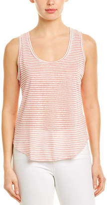 Three Dots Mojave Stripe Linen-Blend Tank