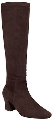 Delman Cyera Suede Knee-High Boots $598 thestylecure.com