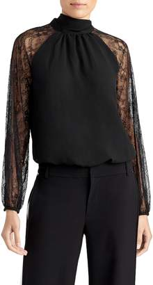 Rachel Roy Collection Lace Sleeve Bow Top