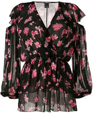 Pinko abstract floral print blouse