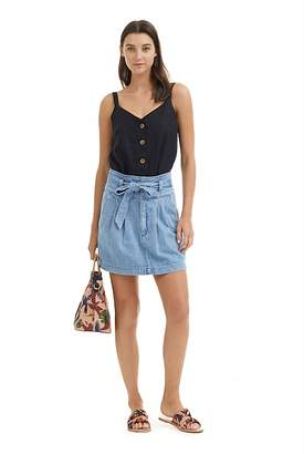 Country Road Belted Denim Skirt