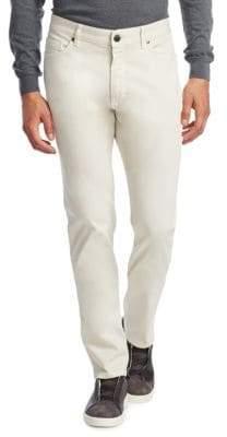 Ermenegildo Zegna Men's Slim-Fit Colored Jeans - Off White - Size 40
