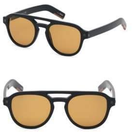 Ermenegildo Zegna Men's 51MM Pilot Sunglasses - Black Brown