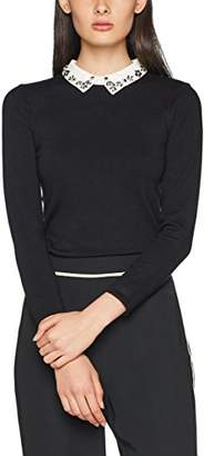 Warehouse Women's Embellished Collar Jumper,6