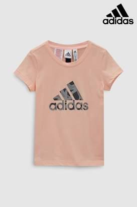Next Girls adidas Pink Logo Tee