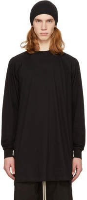 Rick Owens Black Long Sleeve Baseball T-Shirt