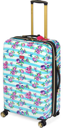 "Betsey Johnson 26"" Stripe Floral Hummingbird Upright Spinner"