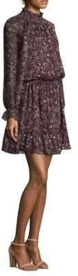 Shoshanna Silk Blouson Dress