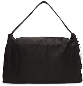 Isabel Benenato Black Leather Messenger Bag