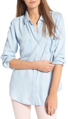 Women's Rails Carter Pinstripe Chambray Shirt $148 thestylecure.com