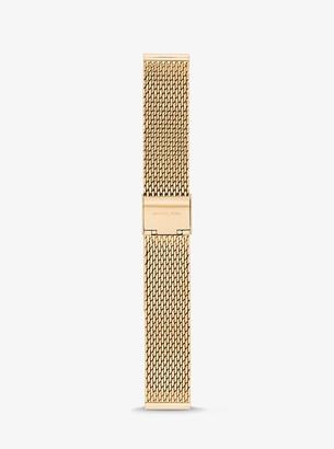 Michael Kors Runway Gold-Tone Mesh Smartwatch Strap