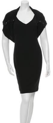 Marchesa Sleeveless Embellished Dress