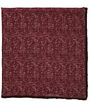 Paolo Albizzati Men's Mélange Wool Gauze Pocket Square - Red