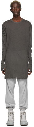 Boris Bidjan Saberi Grey Dyed Long Sleeve T-Shirt