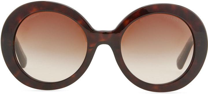 Prada Baroque Sunglasses, Brown