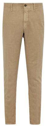 Incotex Slim Fit Cotton Blend Chino Trousers - Mens - Beige